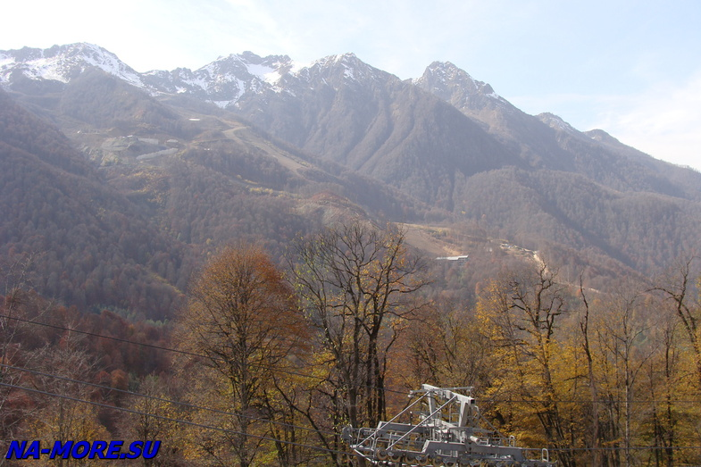 Olympic mountains of the Caucasus.
