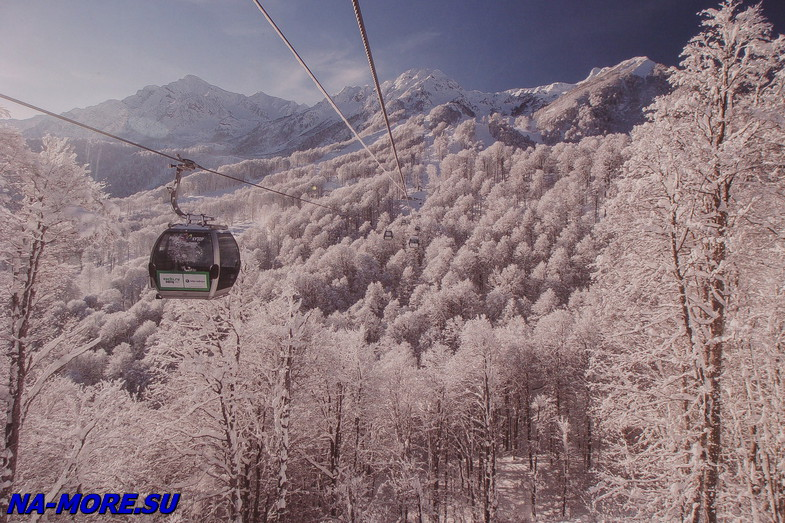Ski resort Rosa Khutor.